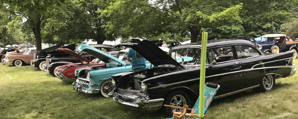 At times, it seemed virtually every type of car ever made was on display somewhere on the display field.