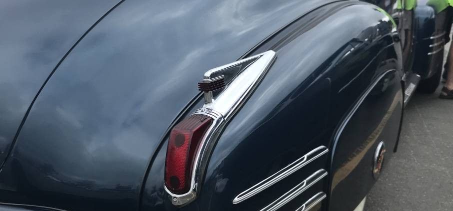 """An impressive Cadillac from 1947.  A close look shows you the origina of the coming """"tail-fin"""" craze."""