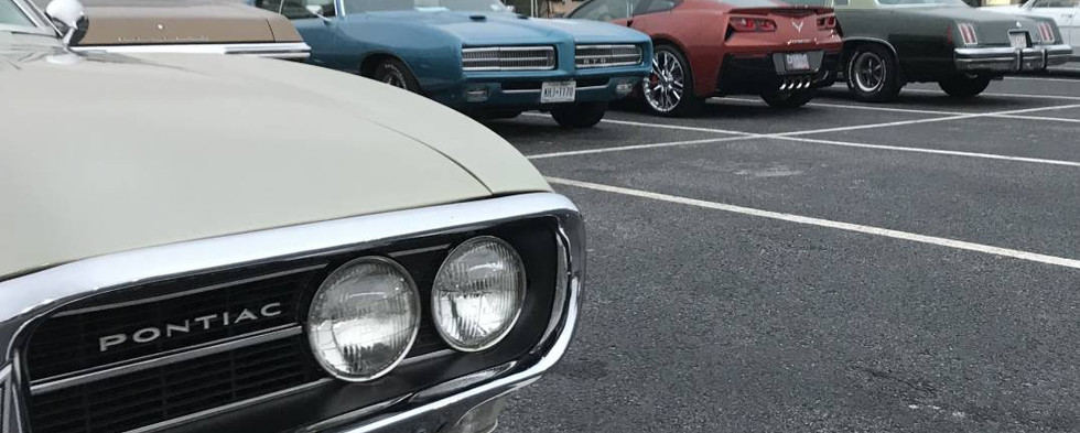 It turned out to be a great mix of classic iron in the lot...and of course, Saturday, that lot turns exclusively Pontiac !