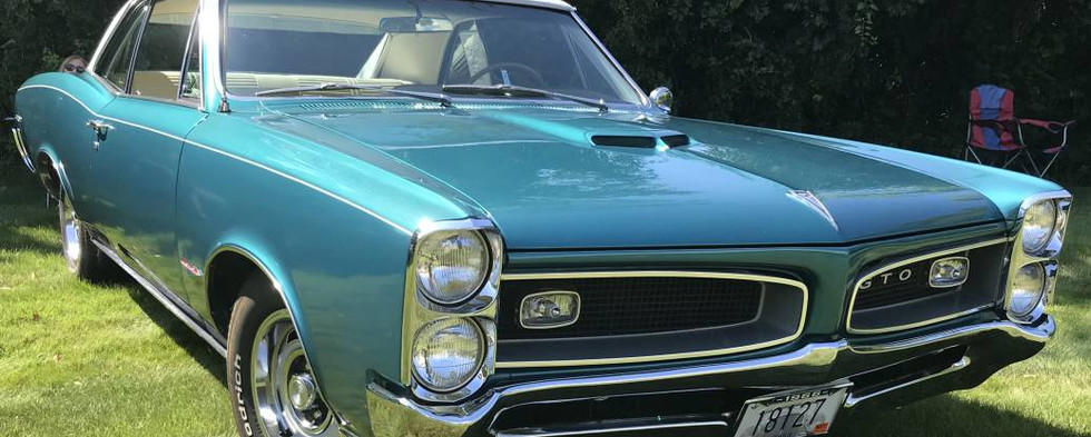Several GTOs were out for the day, including this 1967 Hardtop version of the famous Pontiac line.