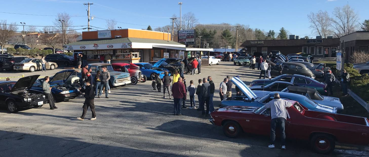 Skies went blue just in time for a great turnout to kick-off the 25th season of Tuesday A&W cruises in Greenville.