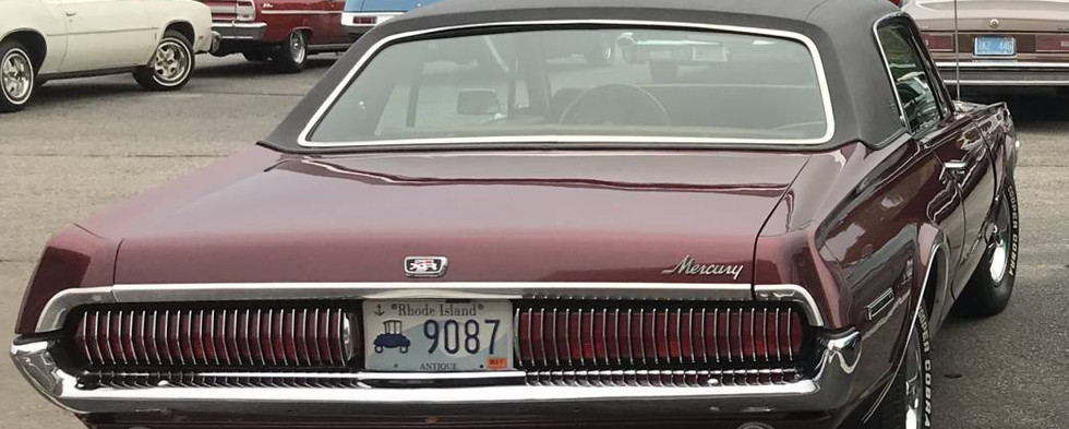 Among the several dozen non-Pontiac cruisers was this first-year (1967) Mercury Cougar.
