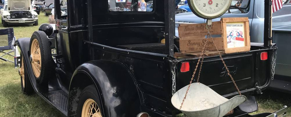"""Here's a classic Ford """"Huckster"""" truck that appeared ready to hit the marketplace and start selling produce out of the back."""