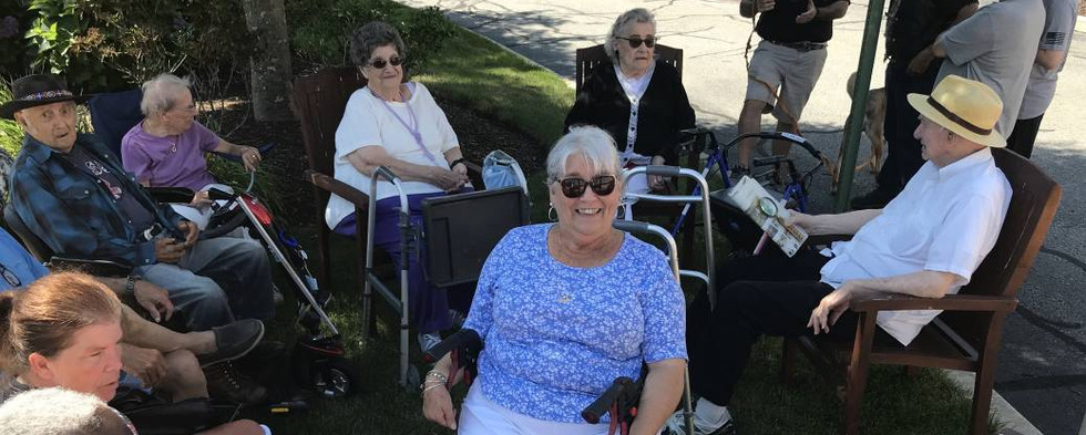 Many of Atria's residents came out to enjoy a day of fresh air and marvelous automotive history.