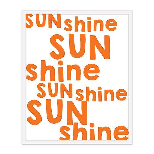 Shine, Sun Print