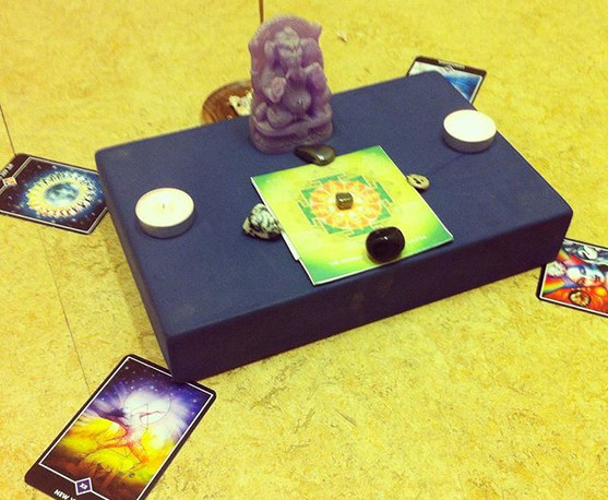 Another yoga class, another alter with G