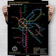 Star Wars Galactic Transit Map