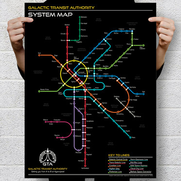 Star Wars Galactic Transit Map