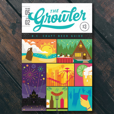 The Growler magazine covers