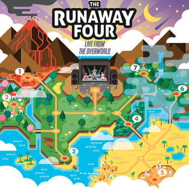 """The Runaway Four - """"Live From the Overworld"""" album cover"""
