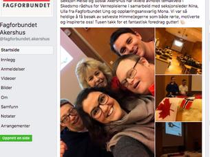 Foredrag for Fagforbundet Akershus - Vernepleiere