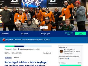 Utrolige 25 000,- fra Sparebank 1 Østlandet - Spleisen er reåpnet