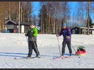 Simen og Mads trener til skirenn