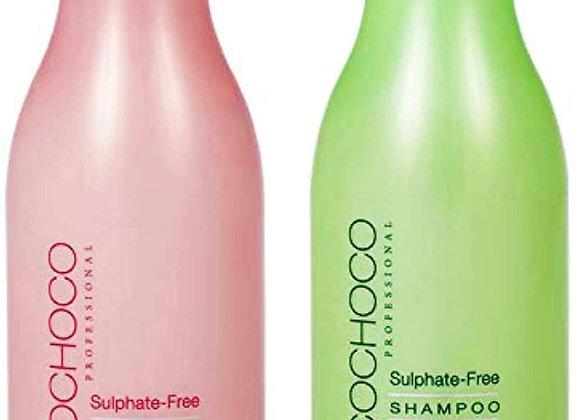 Cocochoco Professional Free Sulphate Shampoo+Sulphate free conditioner 400ml x2