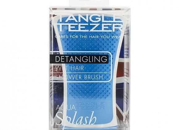 Tangle Teezer Aqua Splash Detangling Shower Brush -  Blue Lagoon (For Wet Hair)