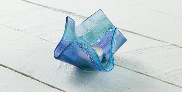 Jo Downs Blue Sunset Small Vase/tealight holder