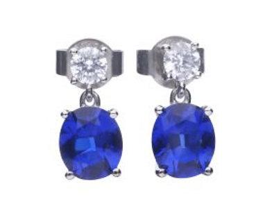 Oval Sapphire Drop Earrings