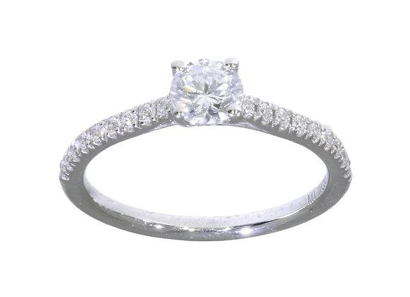 4 Claw 50Pt Diamond shoulder Engagement Ring