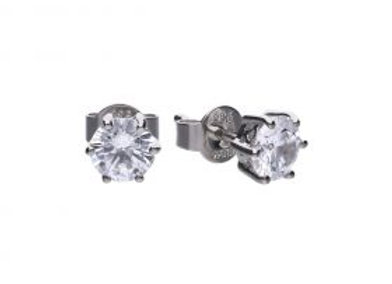 Solitaire 1.5ct Claw Set Stud Earrings