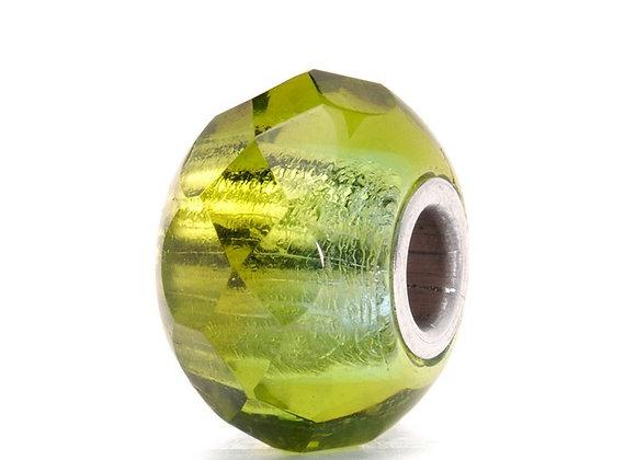 Trollbeads Green Prism Bead