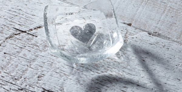 Jo Downs - Silver Heart Earring Dish