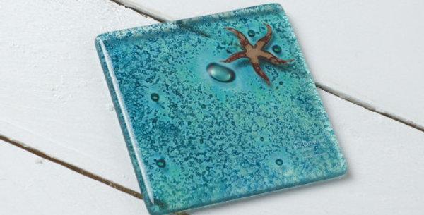 Jo Downs Starfish Coaster - Azule