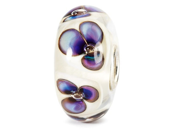 Trollbeads Ivory Violets Bead