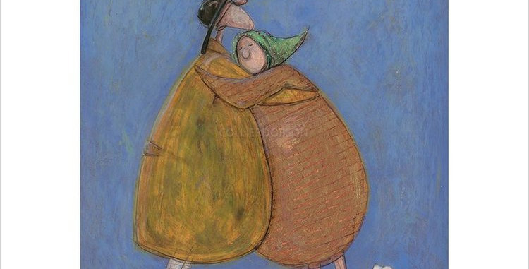 Hug of The Day by Sam Toft