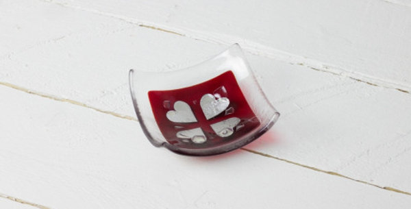Jo Downs - Vintage Hearts - Red