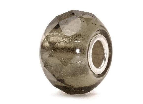 Trollbeads Grey Prism Bead