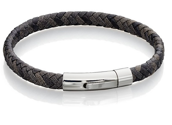 Fred Bennet 1 Row Flat Brown Leather Wrap Wristwear