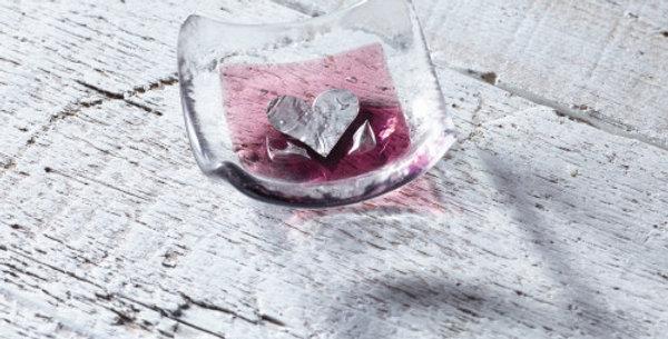 Jo Downs - Pink Heart Earring Dish