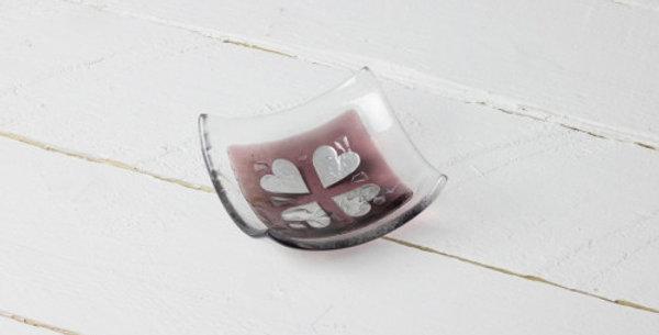 Jo Downs - Vintage Hearts Dish - Pink