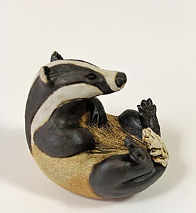 PH003-Pippa-Hill-Badger-lying-back-scrat