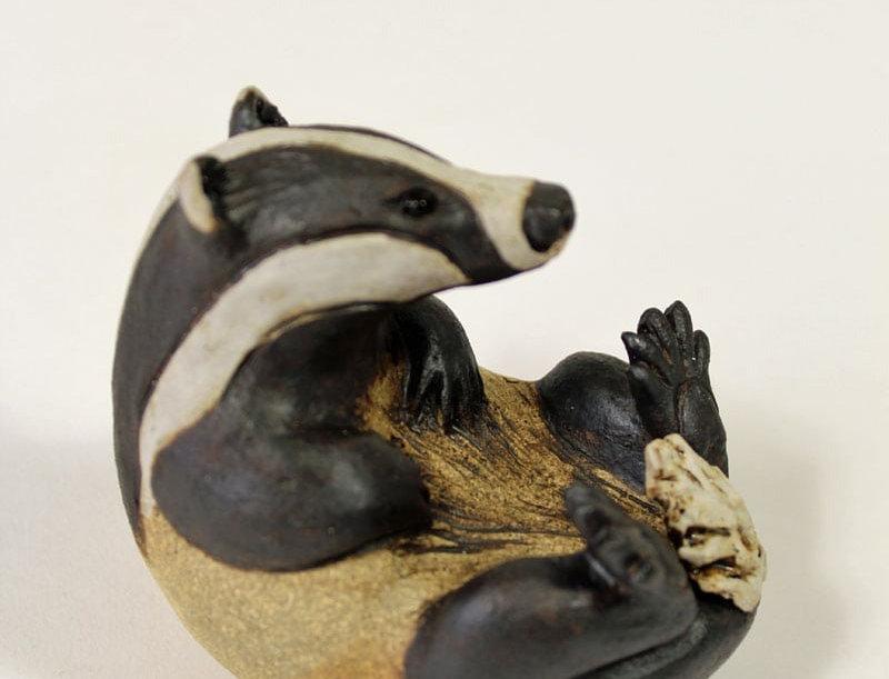 Pippa Hill - Badger lying back