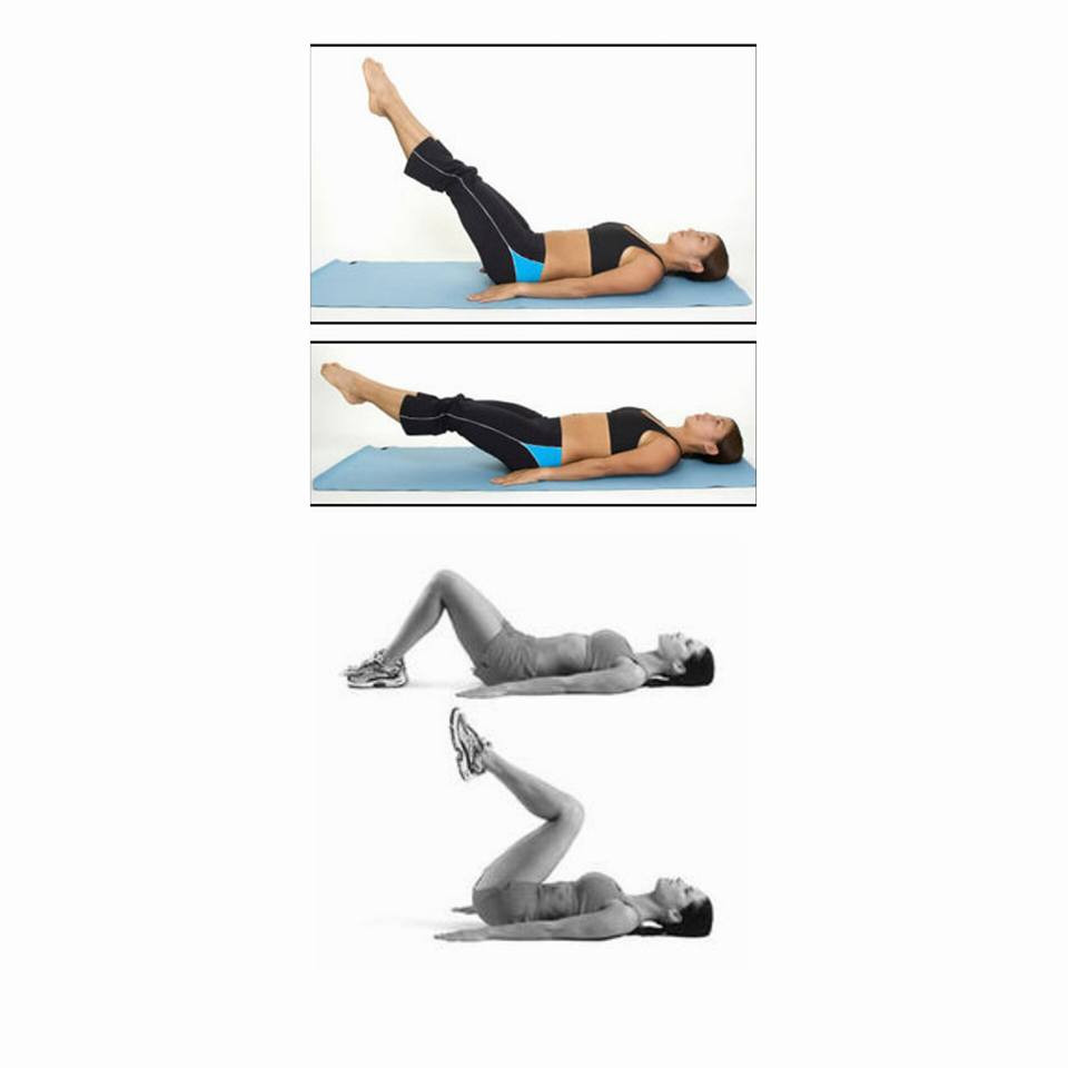 personal trainer teaching the proper form of abs exercise