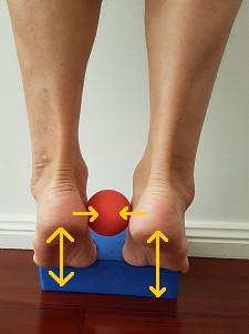 Heel raise to treat flat foot