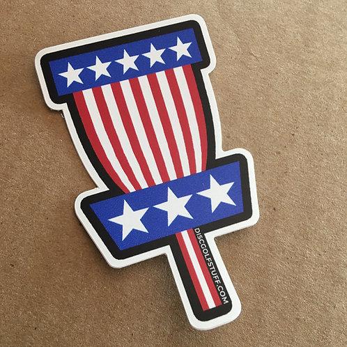 "AMERICAN FLAG BASKET VINYL STICKER 3"""