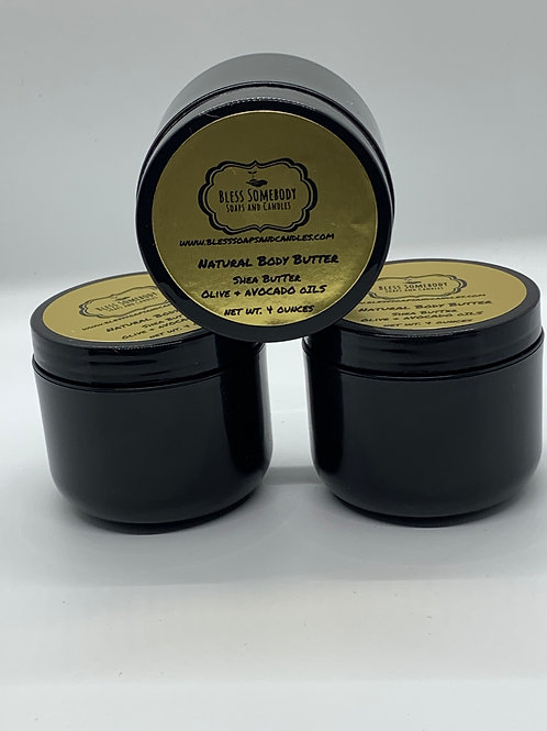 Natural Unscented Body Butter (See Below for Scented)