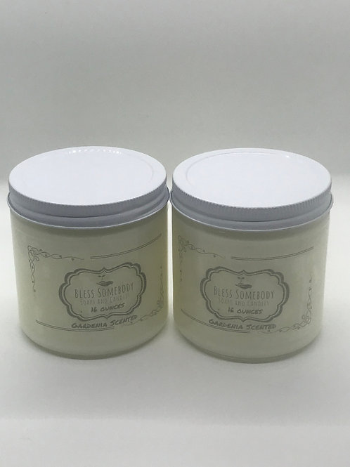 2 Larger 16 ounce Custom Candles( Made on order)