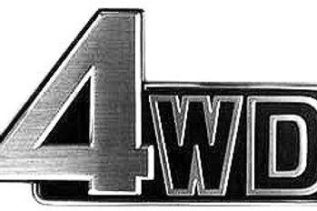 """FJ60, FJ62 """"4WD"""" Tailgate Emblem"""