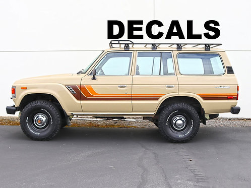 Toyota Land Cruiser FJ60 - FJ62 Custom Decals