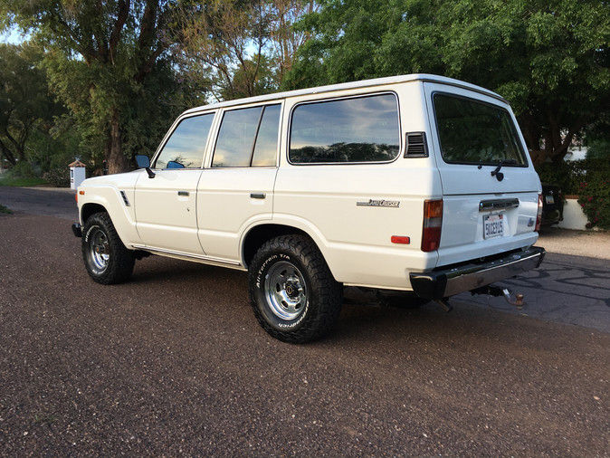 World meet Sally the whore. After working the LA streets for 163,000 miles, she finally retired in Scottsdale AZ. She loves her Christian Louboutin pumps and her brand new soft paint job, but really enjoys flirting with the other 19 Land Cruisers in her new garage.  #Toyota #LandCruiser #FJ60 #Fj62 #4x4 #BFGoodrich #Original #Factory #CorsettiCruisers