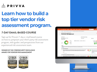 "Privva Launches Free E-Course on ""How to Build a Top-Tier Vendor Risk Assessment Program"""