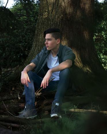 Portrait of teenage male