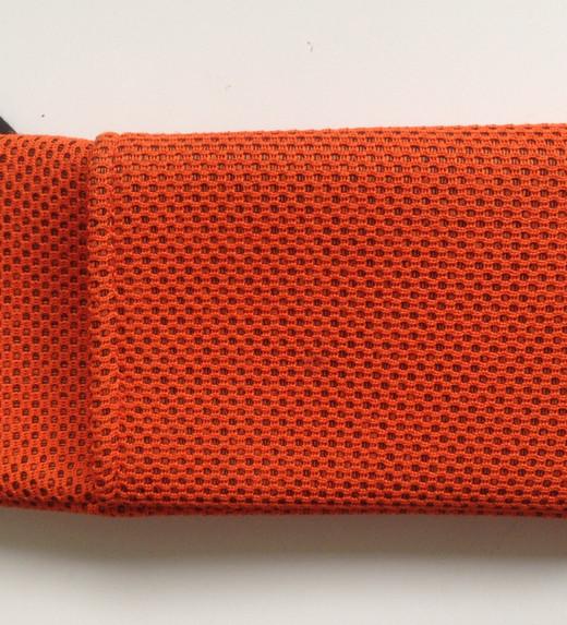 Orange phone pouch