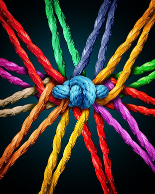 Holding together group as different rope