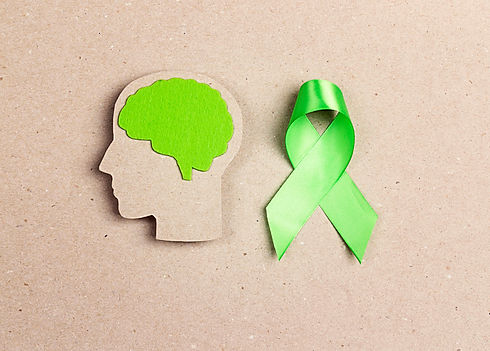 World mental health day concept. Green a