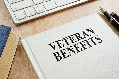 Book about Veteran Benefits on a desk..j