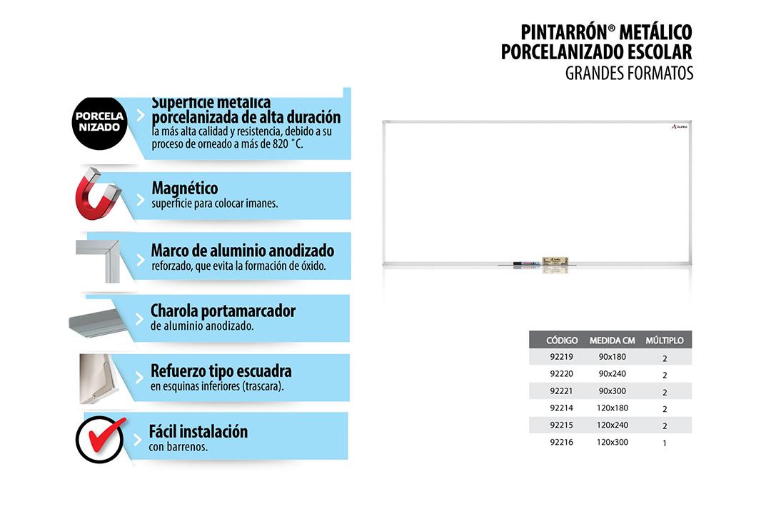 PINTARRON_METALICO_PORCELANIZADO_ESCOLOLAR